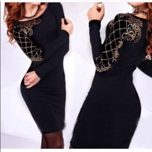 Long Sleeve BodyCon Party Dress